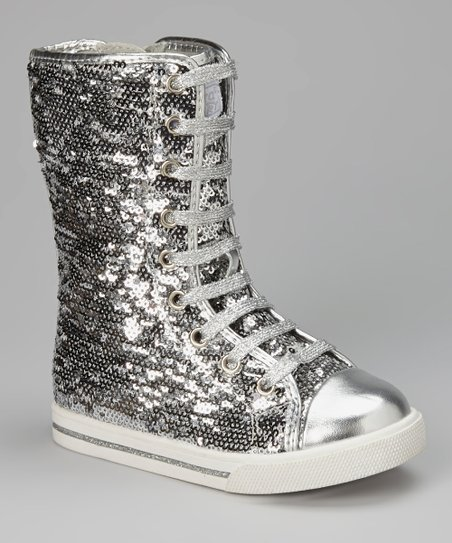 Platinum Galaxy Knee-High Sneaker