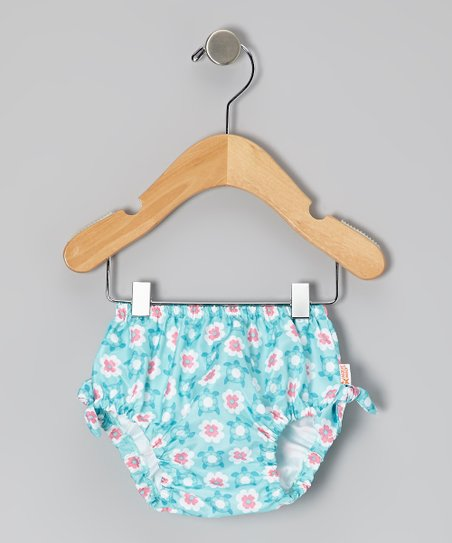 Aqua Geo Turtle Swim Diaper Cover - Infant, Toddler & Girls