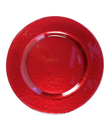 Red Glory Charger Plate