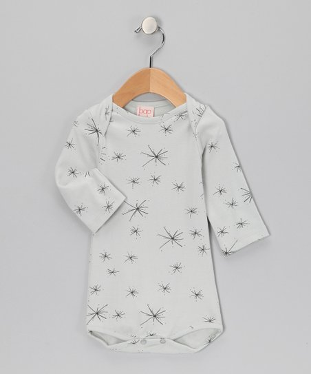 Gray Starburst Organic Bodysuit - Infant