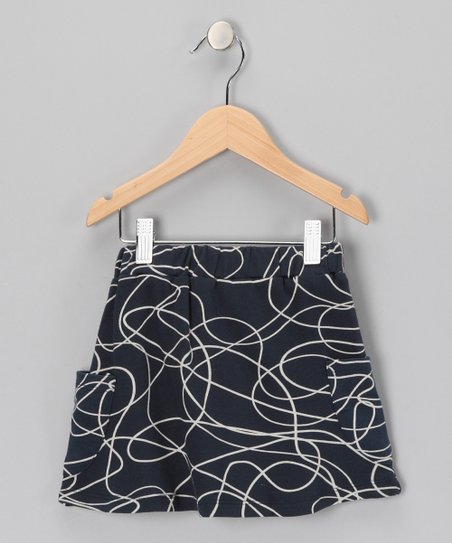 Navy Scribble Organic Skirt - Toddler & Girls