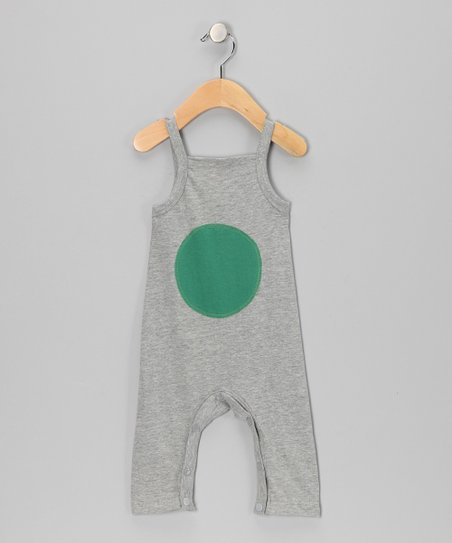 Gray Melange Circle Organic Playsuit - Infant