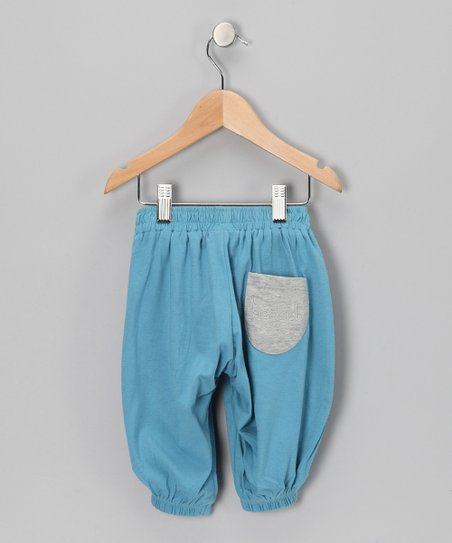 Blue Organic Harem Pants - Infant