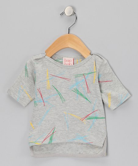 Gray Pine Needle Organic Tee - Infant