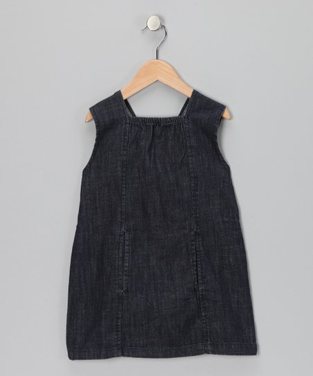 Denim Gathered Dress -Toddler & Girls
