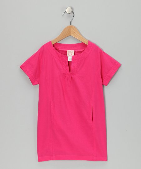 Pink Cherry Woven Dress - Toddler & Girls