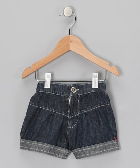 Midnight Wash Cuffed Shorts - Toddler & Girls