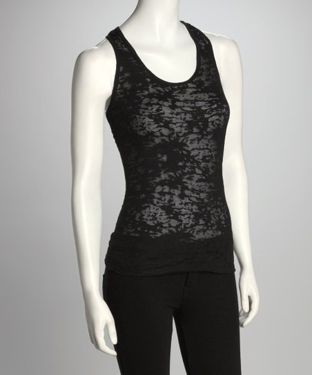 Black Burnout Tank