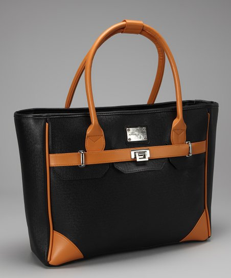 Black East-West Laptop Tote