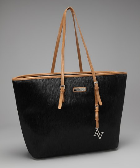 Black & Tan Saffiano Laptop Tote