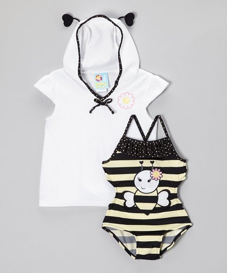 Yellow & Black Bee One-Piece & Cover-Up - Infant & Toddler