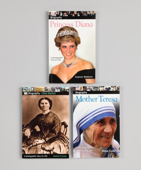 Clara Barton, Mother Teresa & Princess Diana Paperbacks