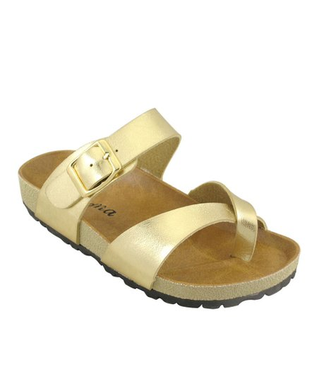 Gold Wrap Sandal
