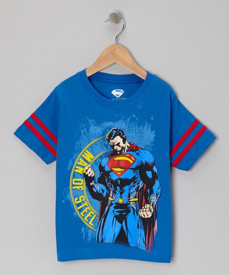 Blue Superman Pose Tee - Kids