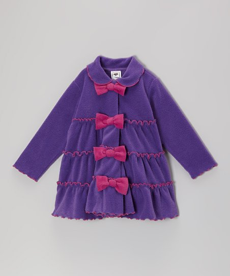 Purple Tiered Bow Jacket - Infant, Toddler & Girls
