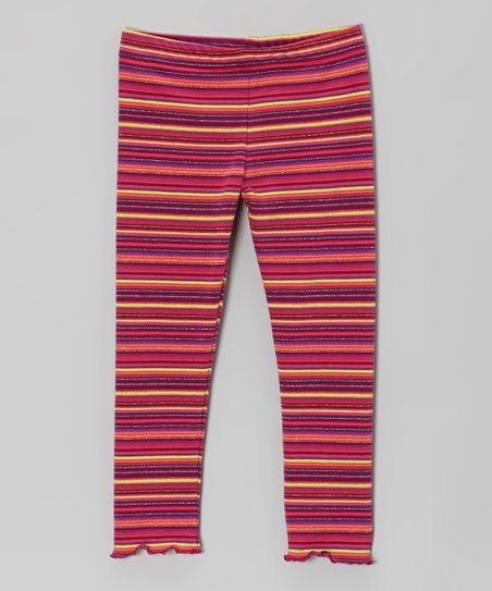 Pink & Purple Stripe Leggings - Infant, Toddler & Girls