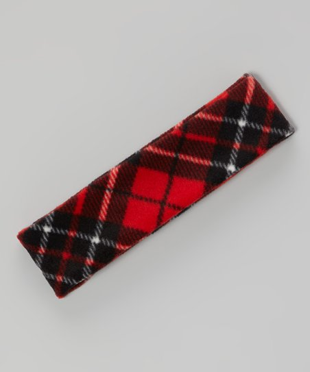 Red & Black Plaid Headband