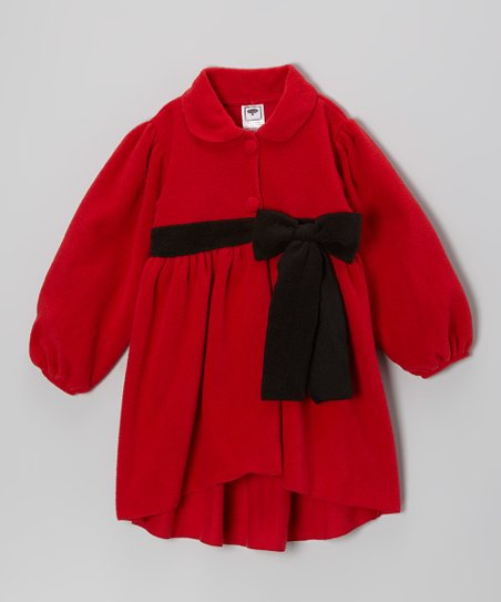 Red & Black Bow Jacket - Infant, Toddler & Girls