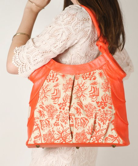 Coral Tulip Shoulder Bag