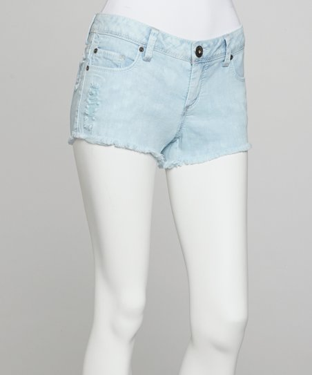 Light Blue Cutoff Shorts
