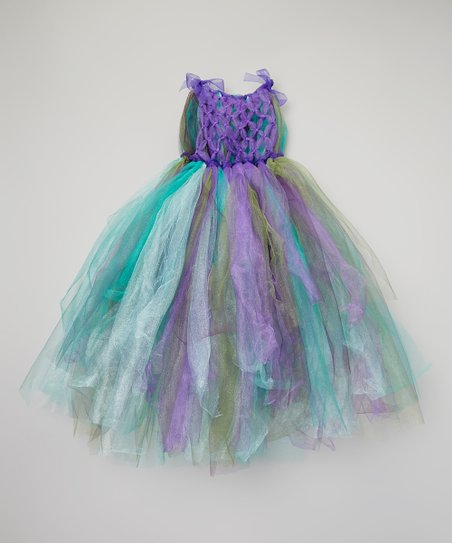Purple & Blue Peacock Tutu Dress - Toddler & Girls