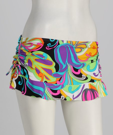Swim Systems Pink & Green Flirty Swim Skirt