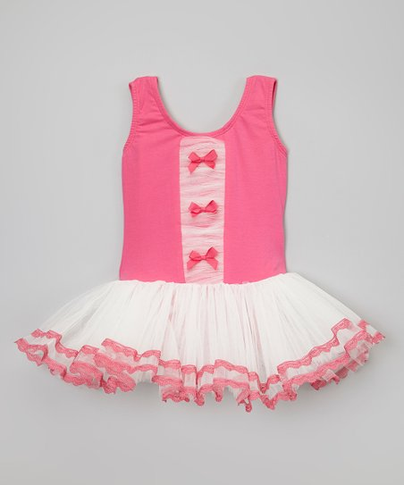 Fuchsia & White Tutu Dress - Toddler & Girls