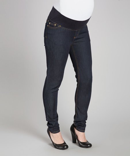 Indigo Supersoft Under-Belly Maternity Skinny Jeans - Women