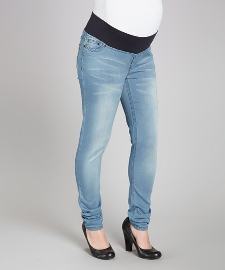 Sky Luxury Denim Maternity Skinny Jeans