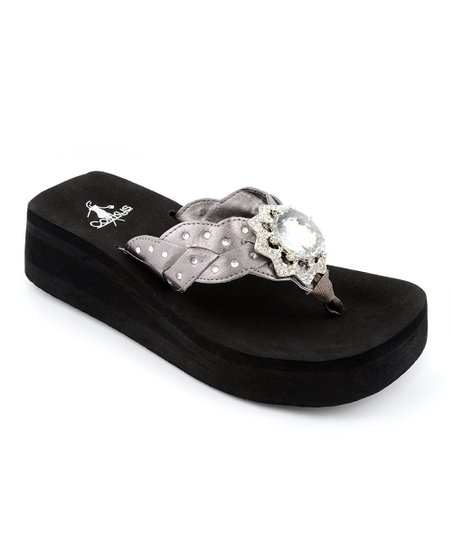 Pewter Norfolk Thong Sandal