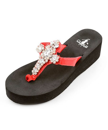 Red Christine Sandal