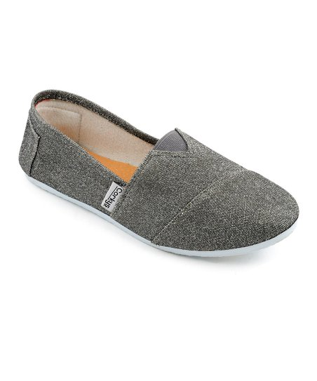 Pewter Sues Slip-On Shoe