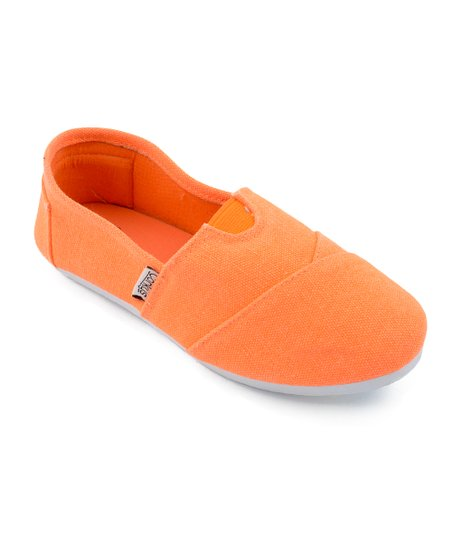 Orange Sues Slip-On Shoe