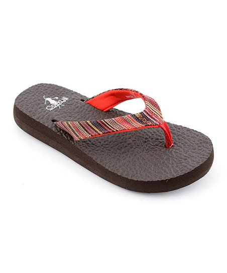 Red Stripe Exercise Flip-Flop