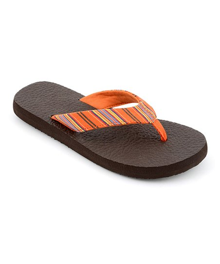 Orange Stripe Exercise Flip-Flop