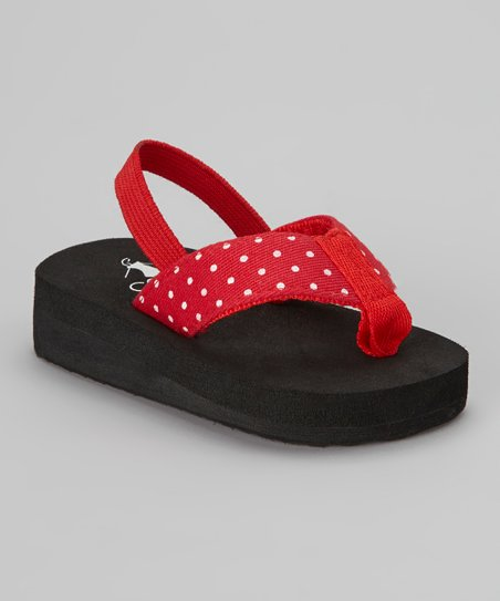 Red Polka Dot Paris Flip-Flop