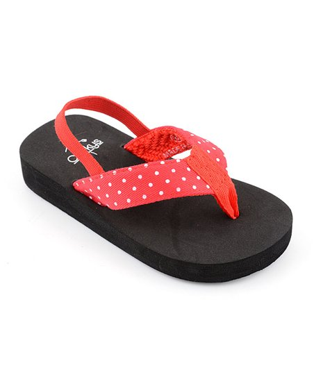 Red Polka Dot Heel Strap Paris Flip-Flop