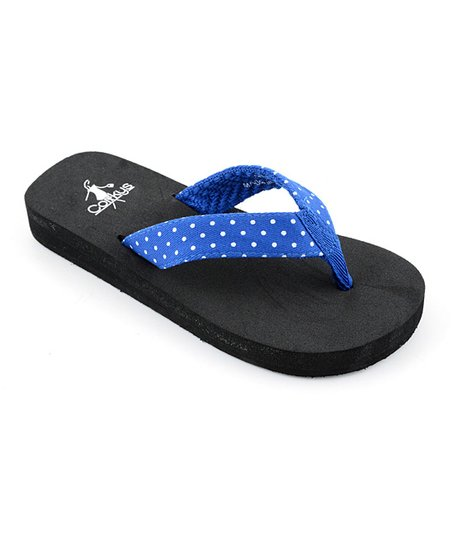 Royal Blue Polka Dot Paris Flip-Flop