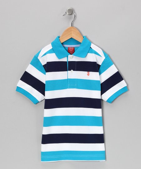 Surf & Black Stripe Polo