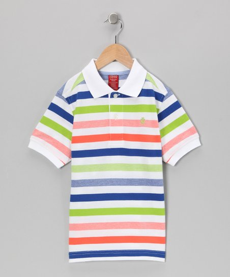 White Stripe Polo