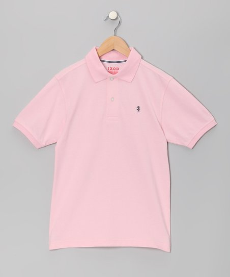 Light Pink Pique Polo - Boys