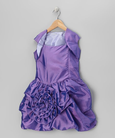 Orchid Bubble Dress & Shrug - Infant, Toddler & Girls