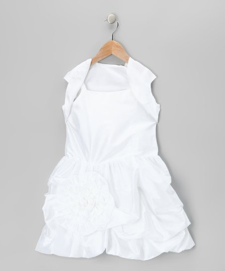 White Bubble Dress &amp; Shrug - Toddler &amp; Girls