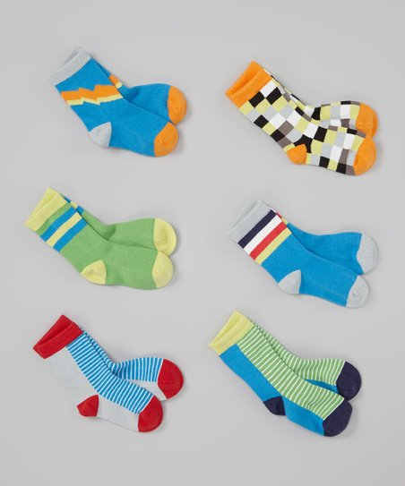 Green & Yellow Zany Organic Socks Set