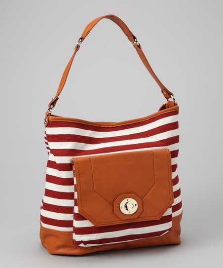 Red Flint Detachable Crossbody Hobo