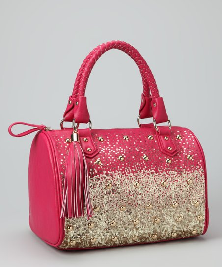 Fuchsia Tribeca Satchel