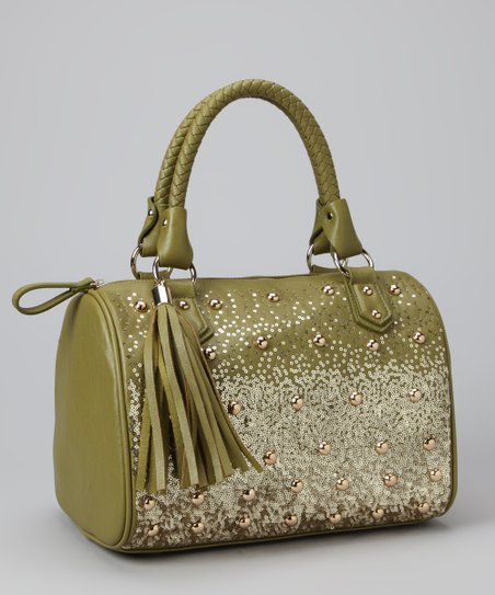 Grass Green Tribeca Satchel