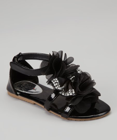 Black Petal Apple Sandal