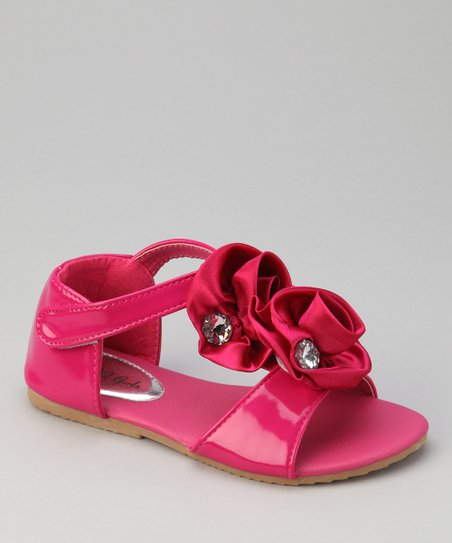 Fuchsia Double Rosette Apple 13 Sandal