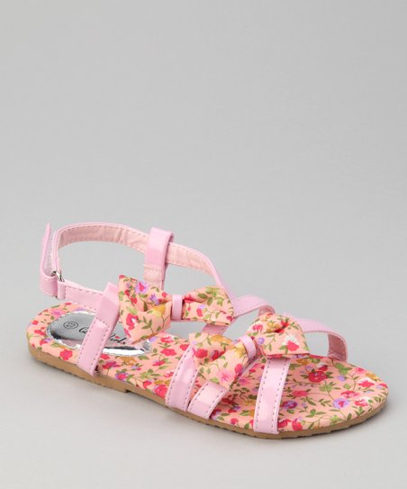 Pink Flower Apple Sandal